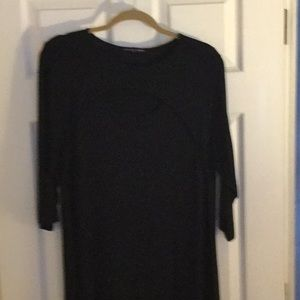 Never worn, w/tags black stretch tunic. XL or 1X.